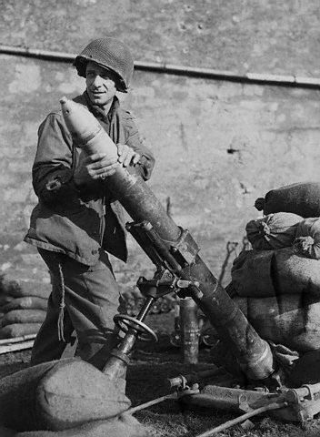 Joe Spatola, the battle of Forbach, early March 1945, with 99th Chemical Mortar Battalion in support of 70th Infantry Division.