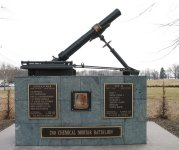 Memorial at Edgewood to 2nd Cml Mortar Bn – click to enlarge